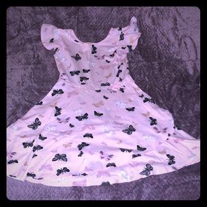 Pink butterfly wrap dress, size 7